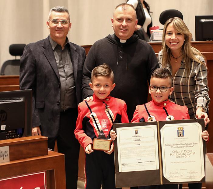 El Concejo de Medellín otorgó reconocimiento a la Banda del Liceo Salazar y HerreraIUSH