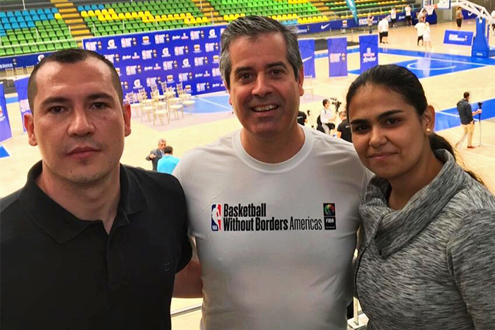 Salazar y Herrera presente en importante evento de la NBAIUSH
